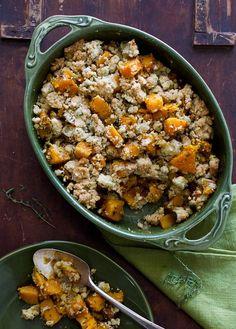 Delicious Butternut Squash Crumble Casserole Recipe on Todd & Diane (White On Rice Couple)