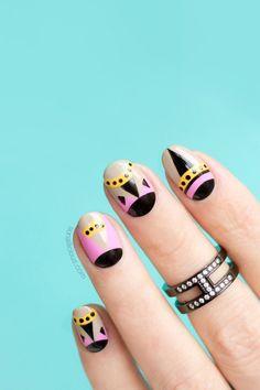 Fendi Monster nails || Geometric Nails for Summer