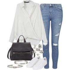 Untitled #2747 by plainly-marie on Polyvore featuring Topshop, Givenchy, Forever 21 and David Yurman