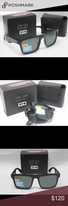 New Spy Optic The Fold Polarized Sunglasses Black Brand New in the box Spy Optic THE FOLD Sunglasses with Shiny Gloss Black Frame and Happy Grey Green POLARIZED Lens.  100% authentic direct from Spy.   These actually fold up.  Includes Spy retail box, sticker, paperwork, carrying bag, and case.  I have many other items also listed here. Spy Optic Accessories Sunglasses