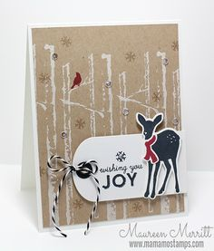 Maureen Merritt for WPlus9 featuring the Winter Woodland stamp set, Winter Woodland Dies and Timeless Tags 2.