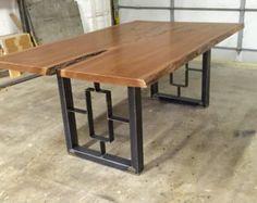 El conjunto de diamante diamante mesa y mesa por MetalAndWoodDesign