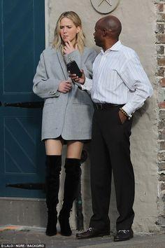 High maintenance: Jennifer Lawrence, 27, was spotted on a smoke break with a mystery man i...