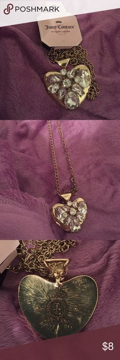 Juicy Couture necklace New with tags.  Long, chunky, n gold tone Juicy Couture Jewelry Necklaces