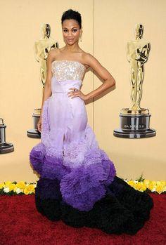 Zoe Saldana in Givenchy Haute Couture, 2010