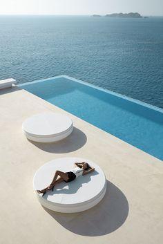 Daybed by Ramón Estve _ Pool. ideas, backyard, patio, diy, landscape, deck, party, garden, outdoor, house, swimming, water, beach.