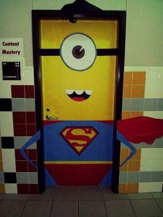 Super Minion! Classroom door.