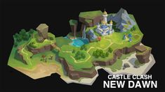 ArtStation - Land setting for Dan Zhao Minecraft Banner Designs, Minecraft Banners, Isometric Art, Isometric Design, Environment Concept Art, Environment Design, Prop Design, Game Design, Fantasy World Map
