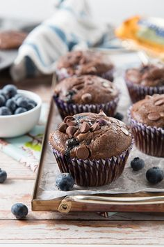 Double Chocolate Blueberry Muffins are chocolatey muffins filled with chocolate chips and fresh blueberries. Moist and not too sweet! Freeze them and reheat them in microwave for the perfect start of the day! A few weeks ago, Bryan and I were wandering around Costco. When we got to the bakery isle, my eyes lit up....Read More »