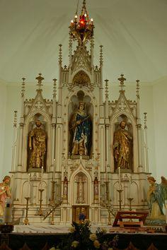 Catholic Religious Saint Statues   Altar with statue of St. Louis - St. Louis Catholic Church ...