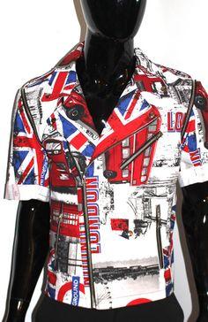 Motorcycle Jacket London Print