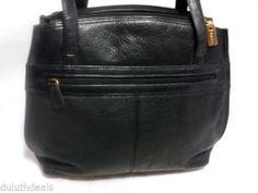 Aurielle Black Leather Purse Shoulder Bag