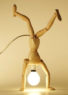 20 Easy DIY Lamp Ideas for Creative Home Decor on a Budget - Love the idea for a DIY lamp from artist's dummy