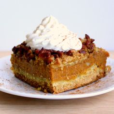Pumpkin Pie Cake (interesting crust,,,a yellow cake mix)