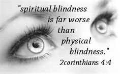 For the god of this world has blinded the unbelievers' minds [that they should not discern the truth], preventing them from seeing the illuminating light of the Gospel of the glory of Christ (the Messiah), Who is the Image and Likeness of God.  2 Corinthians 4:4 Amplified