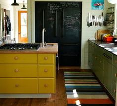 yellow cupboards