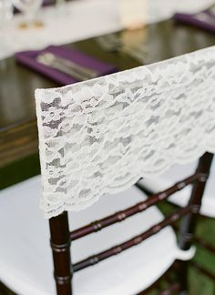 lace capped chairs | Melissa Schollert #wedding