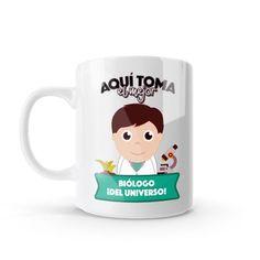 Mug - Aquí toma el mejor biólogo del universo, encuentra este producto en nuestra tienda online y personalízalo con un nombre o mensaje. Chocolate Caliente, Snoopy, Mugs, Tableware, Character, Social, Art, Dietitian, Occupational Therapist