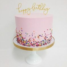 New birthday cake decorating ideas for girls pink parties decorations Ideas 14th Birthday Cakes, Pink Birthday Cakes, Birthday Cakes For Teens, Birthday Ideas, Birthday Wishes, Funny Birthday, Simple Birthday Cakes, Tumblr Birthday Cake, Birthday Cake Ideas For Adults Women