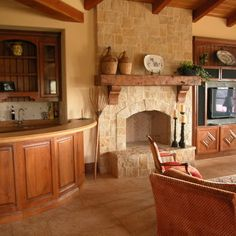 1000 ideas about french country mantle on pinterest for French country stone fireplace