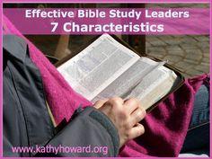 effective Bible study leaders