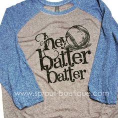 4ff460cfc73 Hey Batter Batter Baseball Shirt - Micro Burn - Baseball Shirt