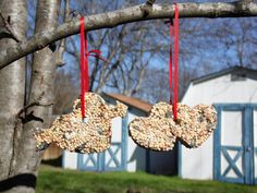 Love Struck- Heart Bird Feeder Ornaments Great for party favors or décor at engagement parties or weddings. #Love #Engagement #wedding #Birds #Lawndecor
