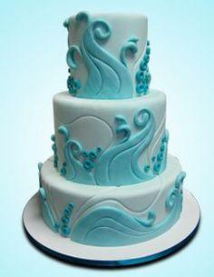Wedding Cakes Water cake!
