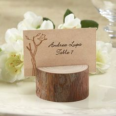 Rustic Real Wood Place Card/Photo Holders - by Beau-coup