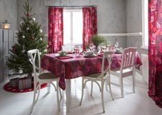 Ruusunmarja Tablecloth | Pentik Christmas 2017 | Decor, Furniture, Christmas 2017, Table Settings, Table Cloth, Color, Table, Home Decor, Table Decorations