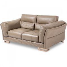 Purchase Mia Bella Monica Leather Loveseat By Michael Amini Black Furniture, Ikea Furniture, Cool Furniture, Living Room Furniture, Modern Furniture, Metal Furniture, 3 Piece Living Room Set, Living Room Sets, Leather Loveseat