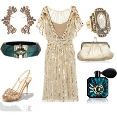 """""""Great Gatsby Inspired Cocktail Party"""" by PinkEsq on Polyvore"""