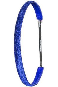 Ivybands® Haarband - Das Anti-Rutsch Haarband   Ozean Blaues Glitzer Haarband Slimline   1.6 cm breites blaues glitzer Slimline, Blau , One size, IVY780
