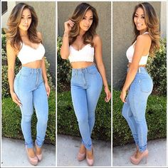 Liane V in Light Blue Classic High Waist Skinny Jeans | Fashion Nova