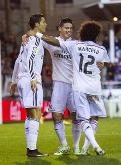 Cristiano Ronaldo of Real Madrid celebrates after scoring during the La Liga match between SD Eibar and Real Madrid CF at Ipurua Municipal Stadium on November 22, 2014 in Eibar, Spain.