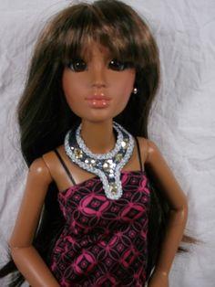 "LORIFINA Doll Brown Demi Boots Shoes 20/"" Fashion Doll Hasbro Retired NEW Chain"
