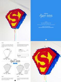 e-Book – Happy Piñata Superman Party, Superman Birthday, Superhero Birthday Party, Boy Birthday, Birthday Pinata, 5th Birthday Party Ideas, How To Make Pinata, Heros Comics, Paw Patrol Birthday