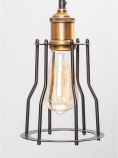 Tilte black/brass pendant light