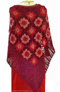Crochet+Shawl | Shawl - Crochet Shawl - Women's Classic Shawl