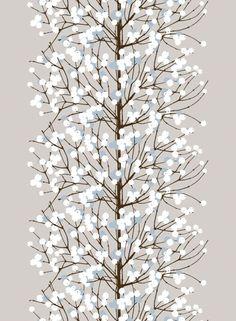 Talvisen luonnon innoittamasta sielukkaasta Lumimarja-kankaasta on hyvää vauhtia tulossa uusi rakastettu Marimekko-klassikko. Kangas on lainannut kuvionsa pensaan oksalta, johon Hirvi on lisännyt kauniita marjoja. Saisiko olla Lumimarjaa hienona satiinina, pehmeän puuvillaisena vai kenties helppohoitoisena vahakankaana? Parhaillaan käsilläsi on pehmoinen puuvilla.