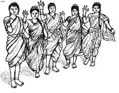 ancient india education color sheet  Folk Dances of India