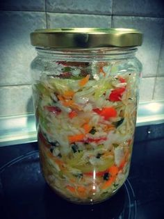 Cooking Cake, Pickles, Feta, Mason Jars, Recipies, Homemade, Diy, Recipe, Greek Dishes