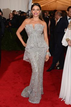 Sofia Vergara in Marchesa at the 2012 Met Gala. Photo Credit: Getty Images