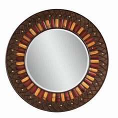 Love this Bassett Mirror Company Plantation Style Round Wall Mirror from Carolina Rustica Furniture