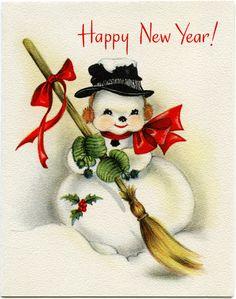 Happy New Year Snowman