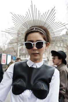 Santita Headpiece  Paris Fashion Week: Street Style Beauty Looks   Beauty High