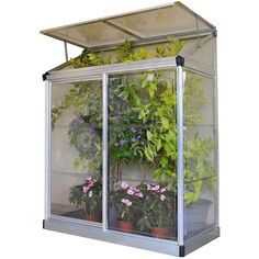 Palram Silver 4 X 2Ft Lean-To Grow House (139.785 CLP) ❤ liked on Polyvore featuring home, outdoors, outdoor decor, garden decor, aluminum panels and outdoor garden decor