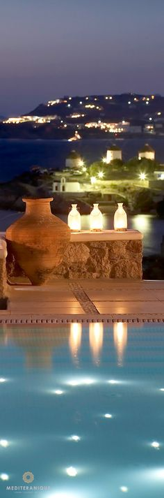 Amazing views over Mykonos Town from the Bill & Coo Suites and Lounge, Greece