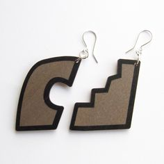 Material: Birch plywood Earring hook: Silver 925 Lenght of an earring aprox cm Size: X Shapes, Drop Earrings, Jewellery, Silver, Jewels, Schmuck, Drop Earring, Jewelry Shop, Jewlery