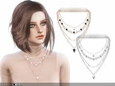 The Sims Resource: Carli Necklace by Taty • Sims 4 Downloads